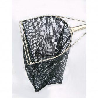 """11½"""" 'D' Shape Frame Dip Net – Green Golf Mesh"""