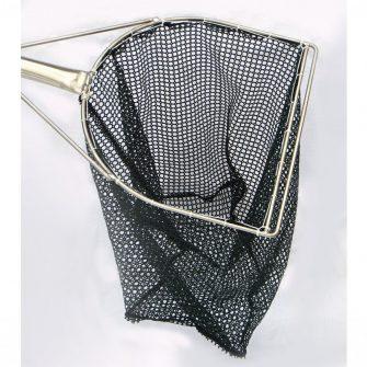 """15½"""" 'D' Shape Frame Dip Net – Green Golf Mesh"""