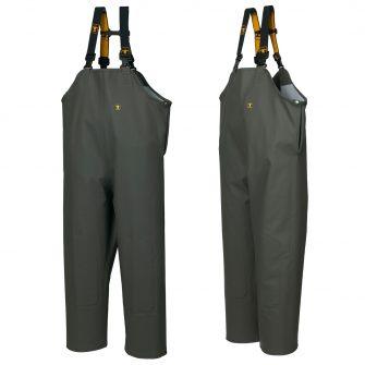 Guy Cotten Bib & Brace Trousers - Green with Fly