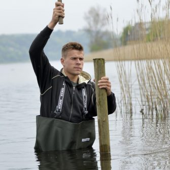 Ocean Chest Waders with Plain Sole Safety Boots
