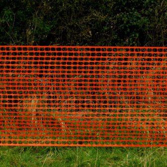 Orange Barrier Netting – 1mtr x 50mtr roll