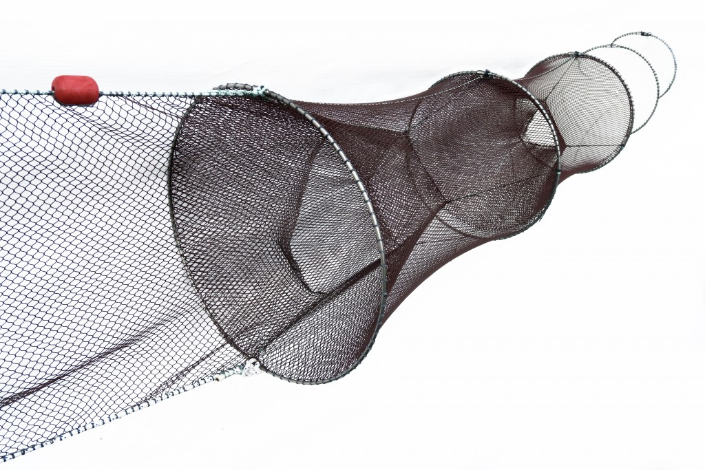 Double fyke nets for eels and fish collins nets ltd for Small fish net