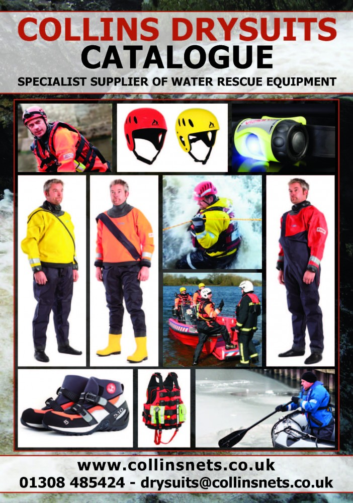 Collins Drysuits and Water Rescue Catalogue Front Page