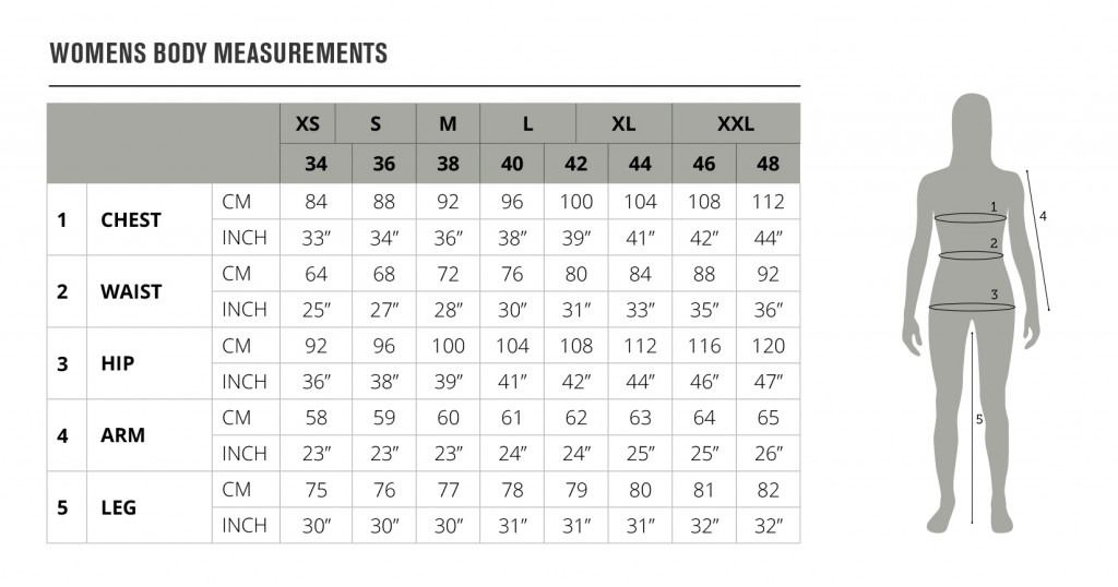 Lady Size Chart - Seeland