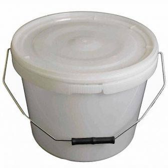 10 Ltr Natural Plastic Buckets with Lid