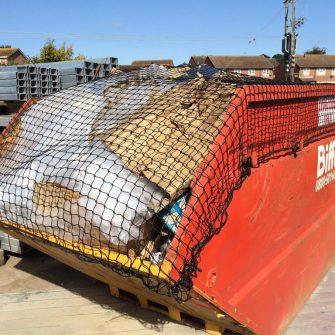 Skip / Lorry Net with Border Rope & Ties