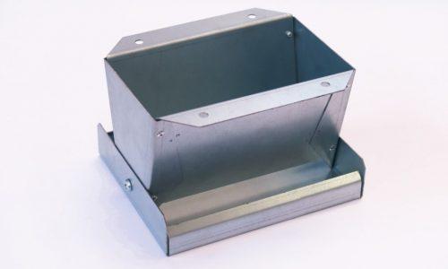 """Galvanised Metal Pan Feeder 7"""""""