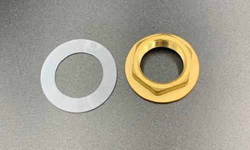 "3/4"" Plastic Washer & Brass Lock Nut"