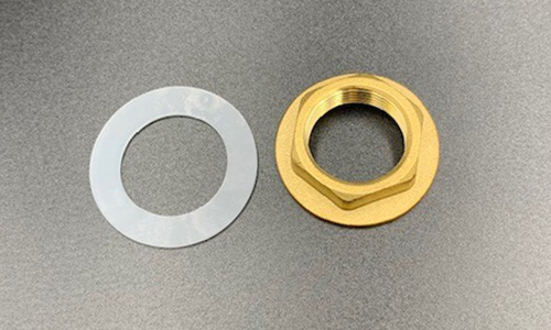 "3/4"" Plastic Washer & Brass Lock Nut"