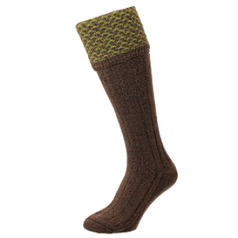 Hatfield Honeycomb Conker Marl Shooting Socks HJ625