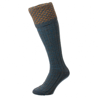 Hatfield Honeycomb Petrol Marl Shooting Socks (HJ625)