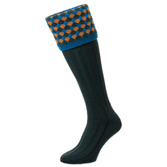 Hadleigh Shooting Socks Racing Green HJ627