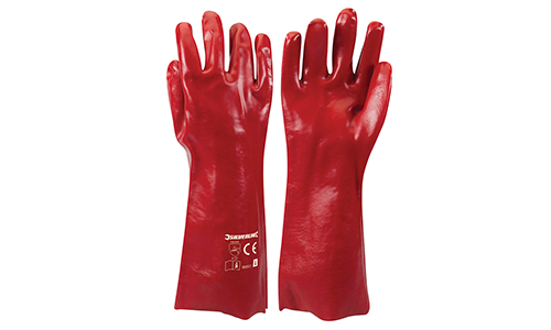 Red PVC Gauntlets