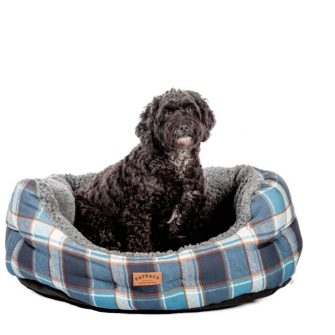 Fleece Check Dog Bed in Partnership with Fat Face